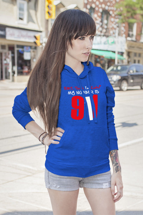 FunkyShirty EMT: Think I'm Cute?my Number is 911 (Women)  Creative Design - FunkyShirty