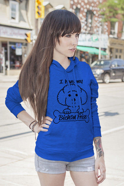 FunkyShirty I Love My Bichon Frise (WOMen)  Creative Design - FunkyShirty
