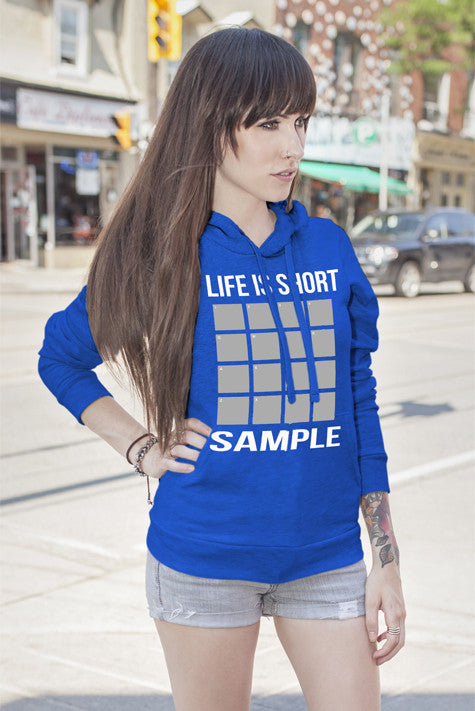 FunkyShirty Life is short Sample (Women)  Creative Design - FunkyShirty