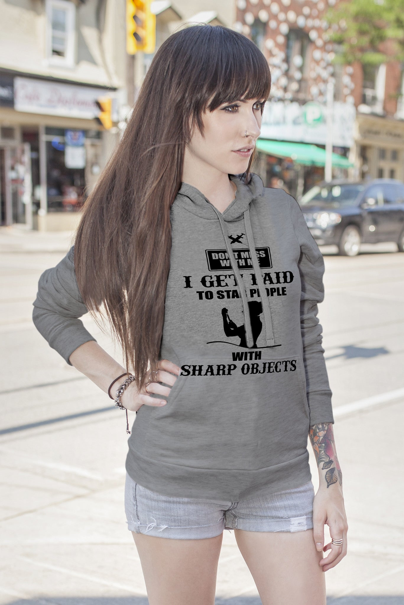 FunkyShirty I Get Paid to Stab People (Women)  Creative Design - FunkyShirty