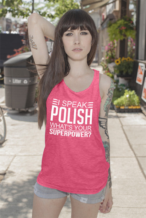 FunkyShirty I Speak Polish what's your Superpower (Women)  Creative Design - FunkyShirty
