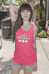 FunkyShirty I am Proud Baseball Mom  Creative Design - FunkyShirty