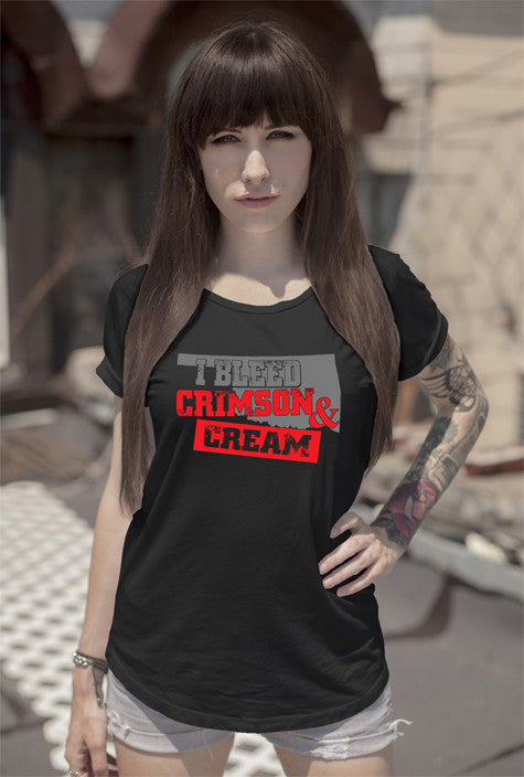 FunkyShirty I Bleed Crimson & Cream (Women)  Creative Design - FunkyShirty
