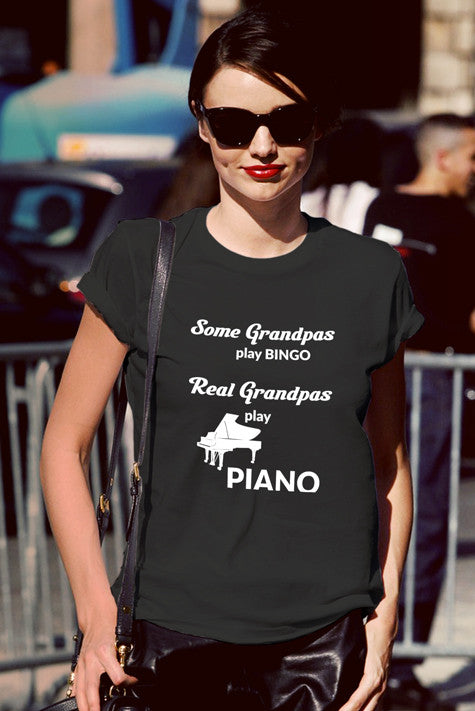 FunkyShirty Some Grandpas Play Bingo Real Grandpas Play Bingo (Women)  Creative Design - FunkyShirty