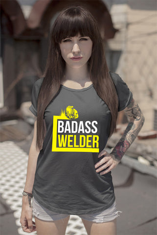 FunkyShirty Badass Welder (Women)  Creative Design - FunkyShirty