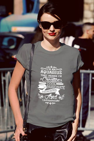 FunkyShirty Aquarius (Women)  Creative Design - FunkyShirty