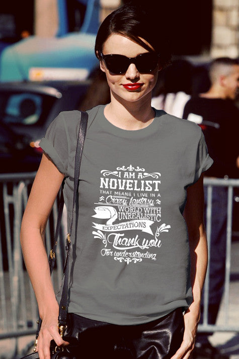 FunkyShirty Novelist (Women)  Creative Design - FunkyShirty