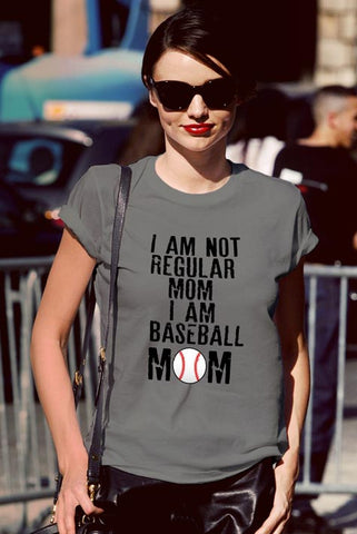FunkyShirty I am Not Regular Mom I am Baseball Mom  Creative Design - FunkyShirty