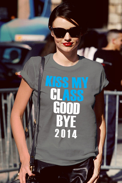 FunkyShirty Kiss my Class Goodbye 2014 (Women)  Creative Design - FunkyShirty