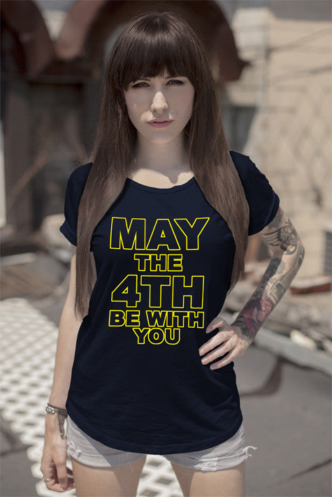 FunkyShirty May the 4th be with you (Women)  Creative Design - FunkyShirty