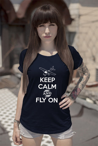Keep Calm and Fly On (Women)