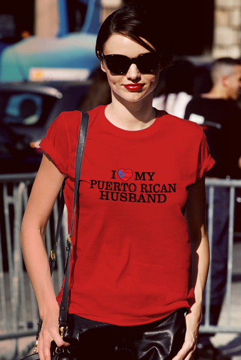 FunkyShirty I love my Puerto Rican Husband  Creative Design - FunkyShirty