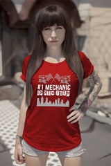 FunkyShirty # 1 Mechanic in Newyork (Women)  Creative Design - FunkyShirty