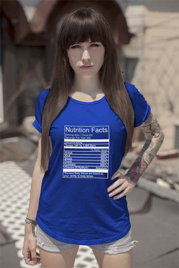 FunkyShirty Nutrition Facts (Women)  Creative Design - FunkyShirty