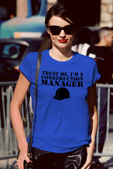 FunkyShirty Trust me I'm a Construction Manager (Women)  Creative Design - FunkyShirty