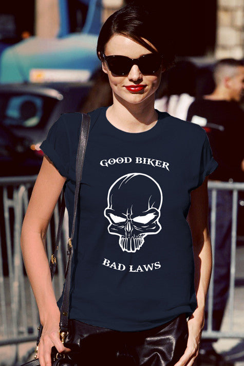 FunkyShirty Good biker Bad Laws (Women)  Creative Design - FunkyShirty