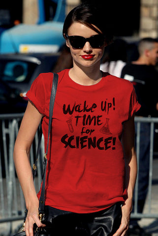 FunkyShirty Wake up,Time for Science (Women)  Creative Design - FunkyShirty