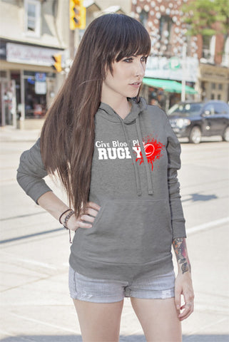 FunkyShirty Give Blood Play Rugby (Women)  Creative Design - FunkyShirty