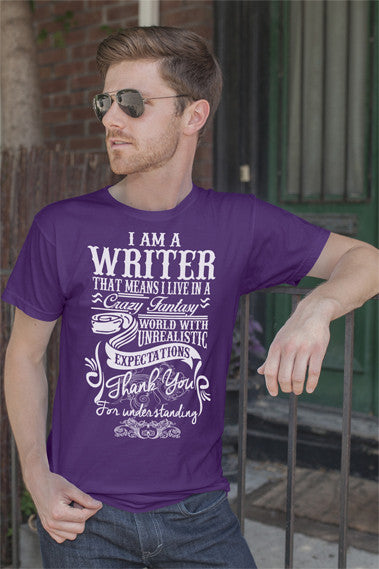 FunkyShirty I Am A Writer (Men)  Creative Design - FunkyShirty