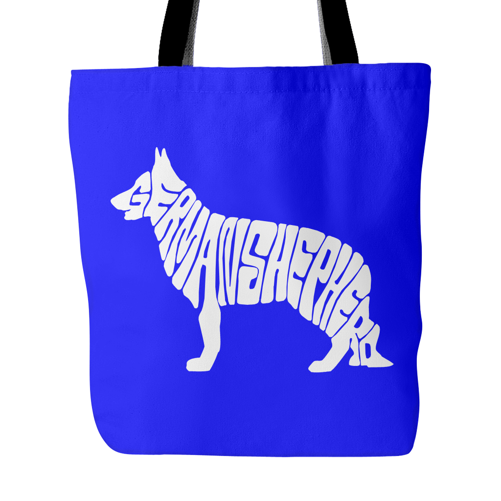 FunkyShirty German Shepherd Dog - Tote Bag  Tote Bags - FunkyShirty