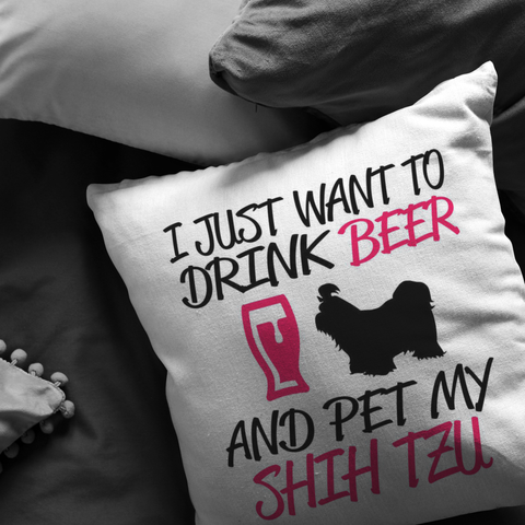 Beer and My Shih Tzu - Pillow