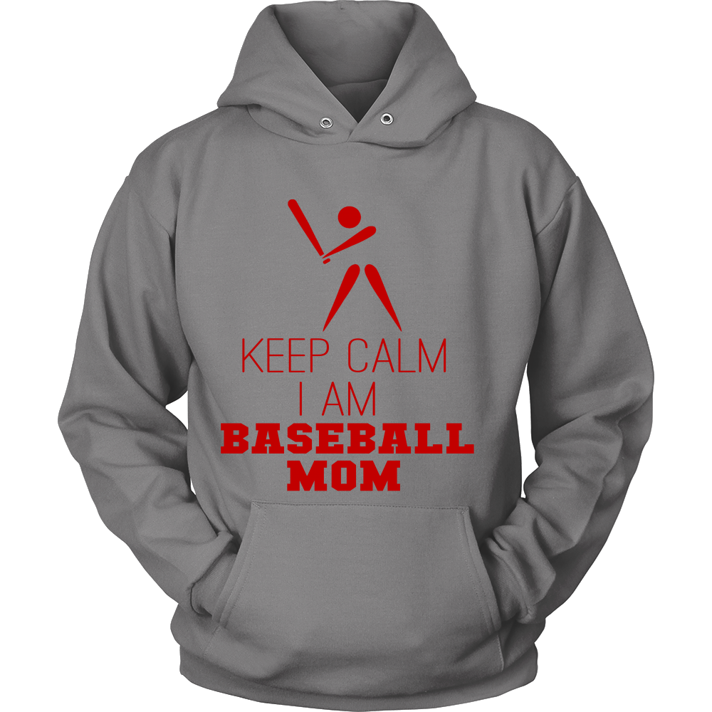 FunkyShirty Keep Calm I am Baseball Mom  Creative Design - FunkyShirty
