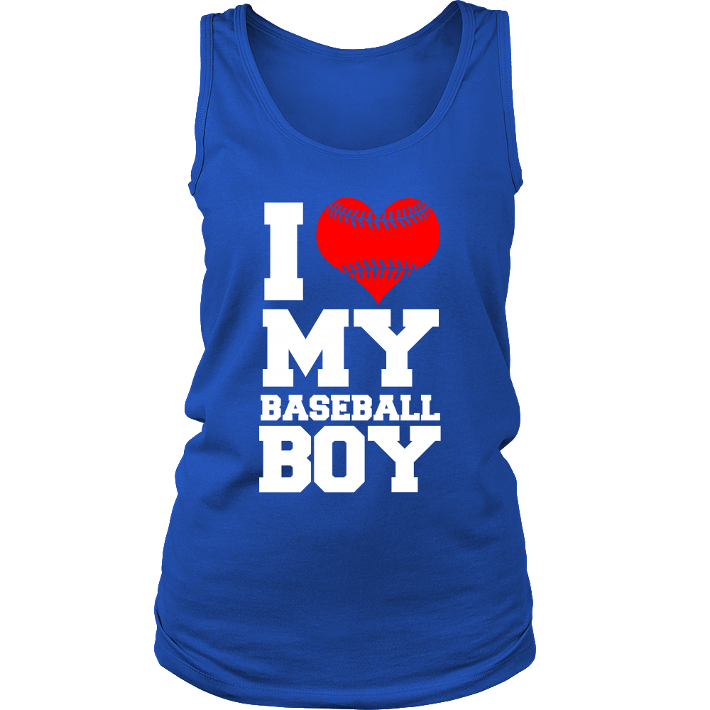 FunkyShirty I Love my Baseball Boy (Women)  Creative Design - FunkyShirty