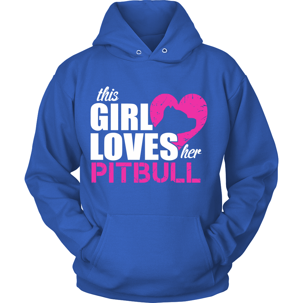 FunkyShirty This girl Loves her Pitbull  Creative Design - FunkyShirty