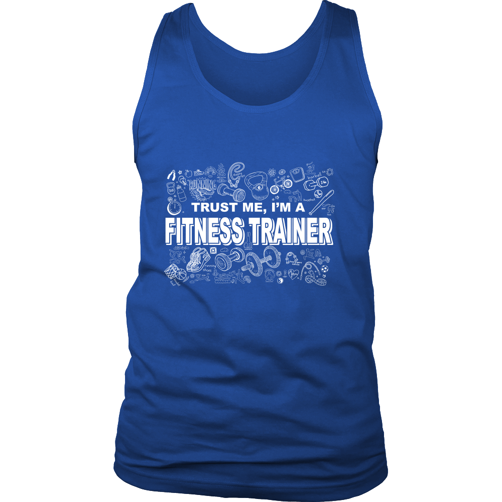 FunkyShirty Trust me Im a Fitness Trainer (MEN)  Creative Design - FunkyShirty