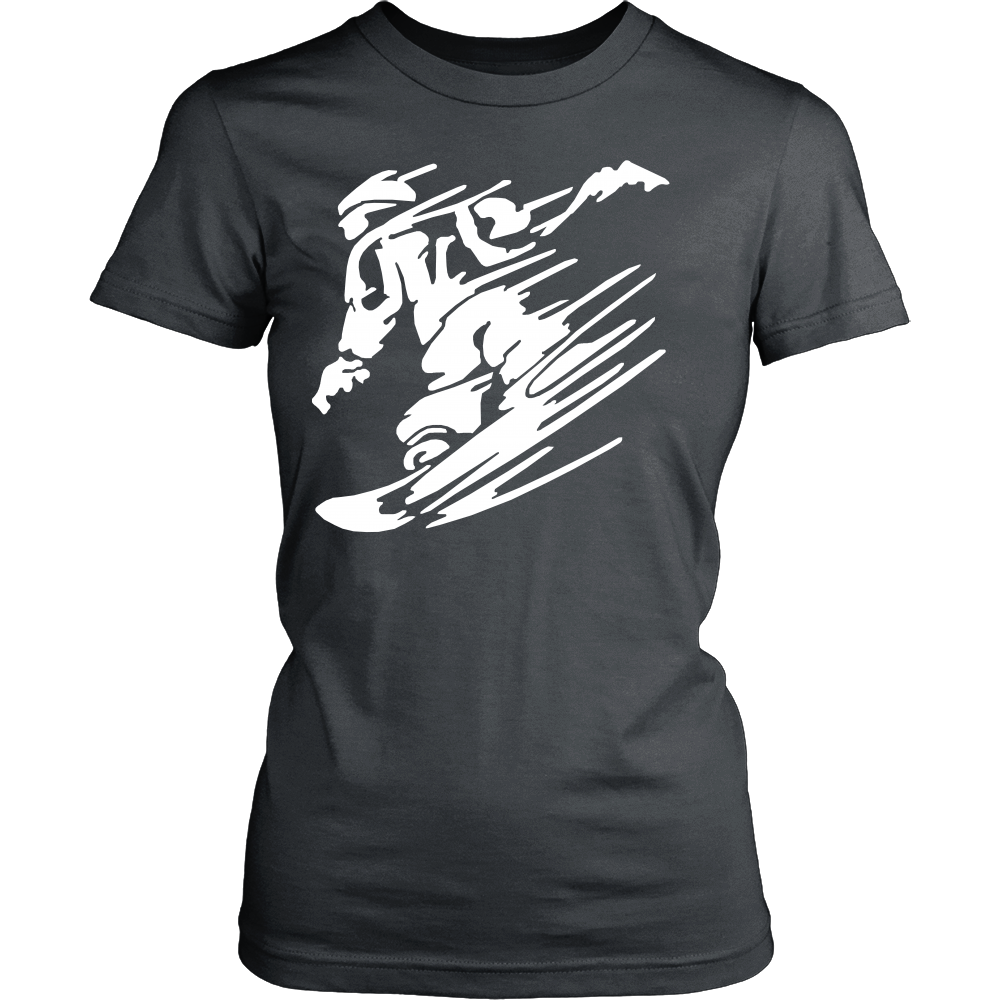 FunkyShirty Skiing (Women)  Creative Design - FunkyShirty