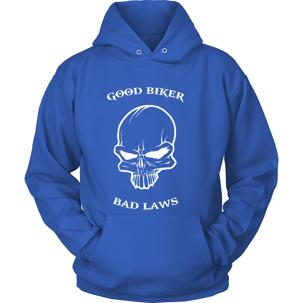 FunkyShirty Good biker Bad Laws (Men)  Creative Design - FunkyShirty