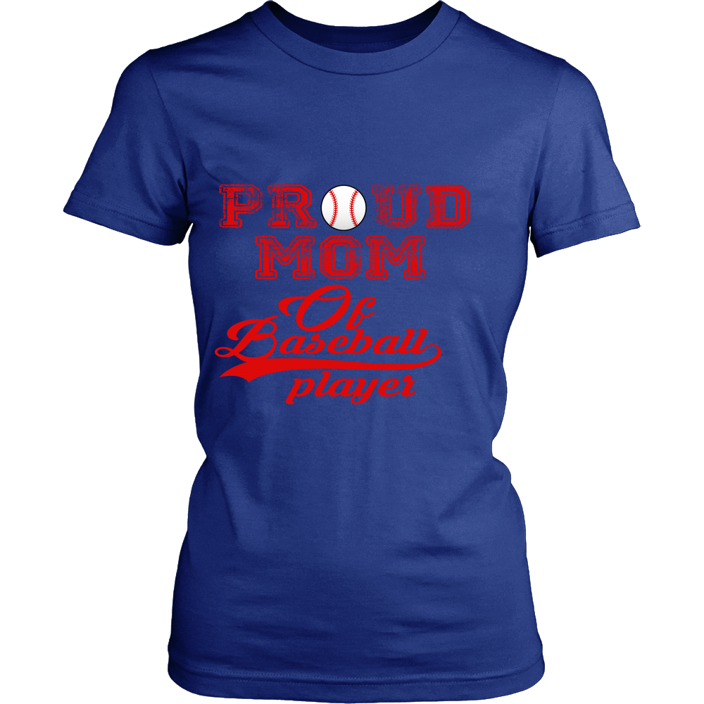 FunkyShirty Proud Mom Of Baseball Player  Creative Design - FunkyShirty