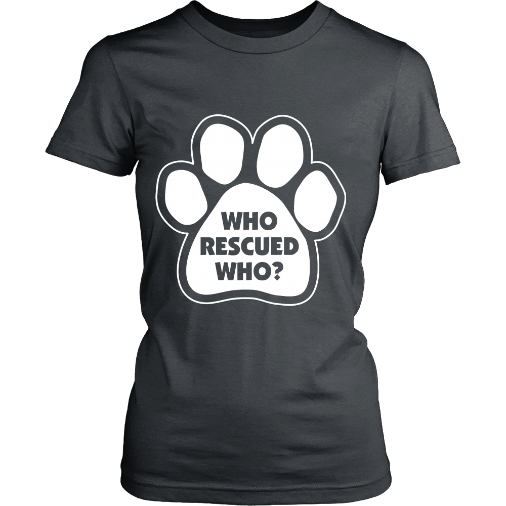 FunkyShirty Who Rescued Who? (Women)  Creative Design - FunkyShirty