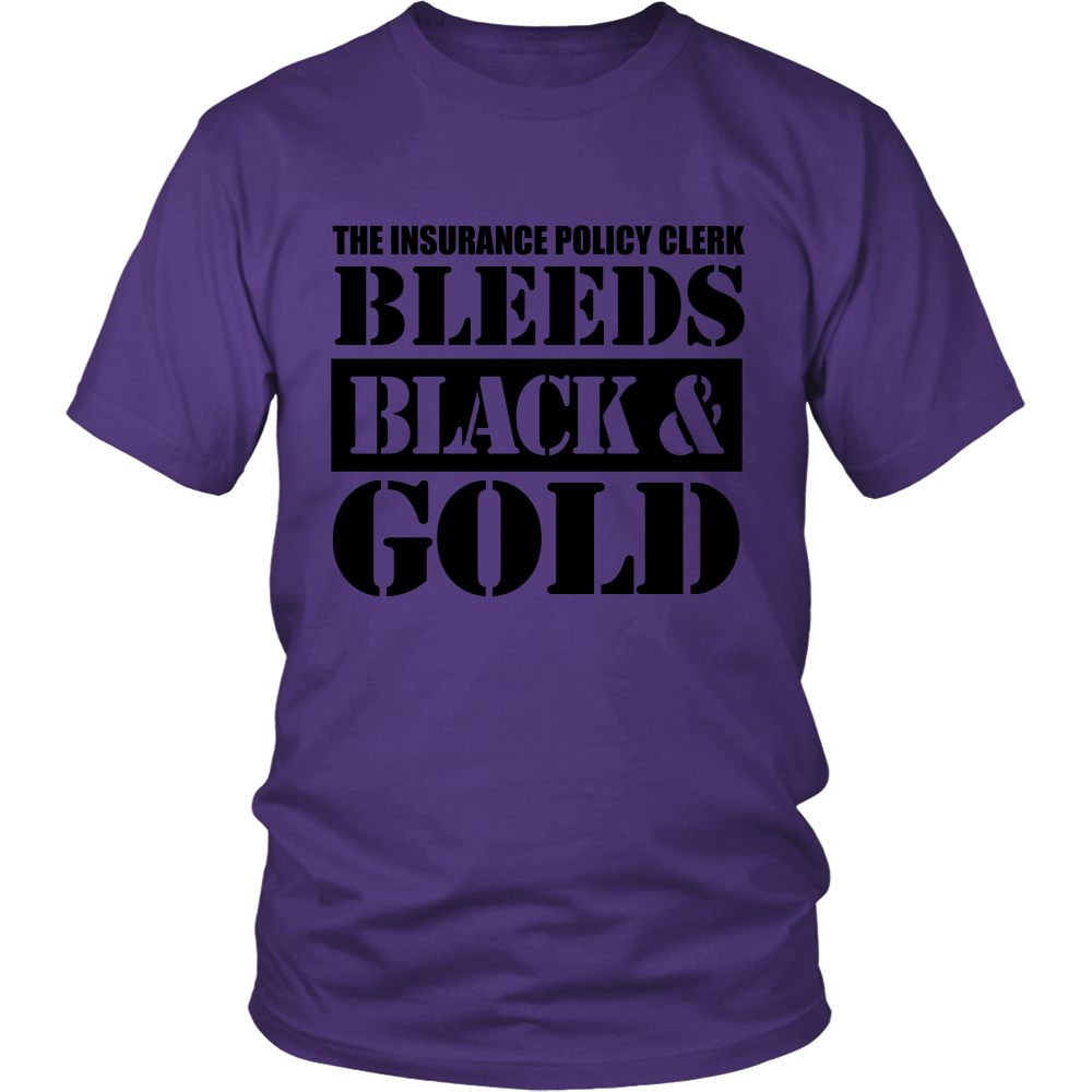 FunkyShirty Bleeds Black and Gold (Men)  Creative Design - FunkyShirty