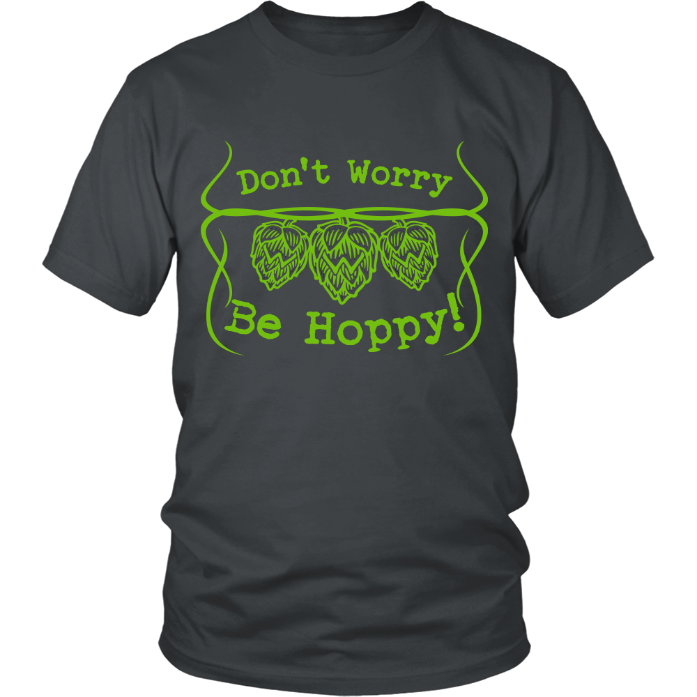 FunkyShirty Don't Worry Be Hoppy (Men)  Creative Design - FunkyShirty