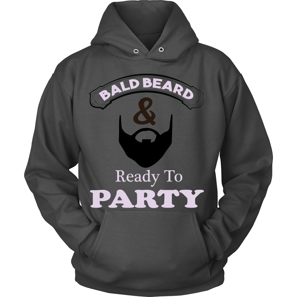 FunkyShirty Bald Beard & Ready to Party  Creative Design - FunkyShirty