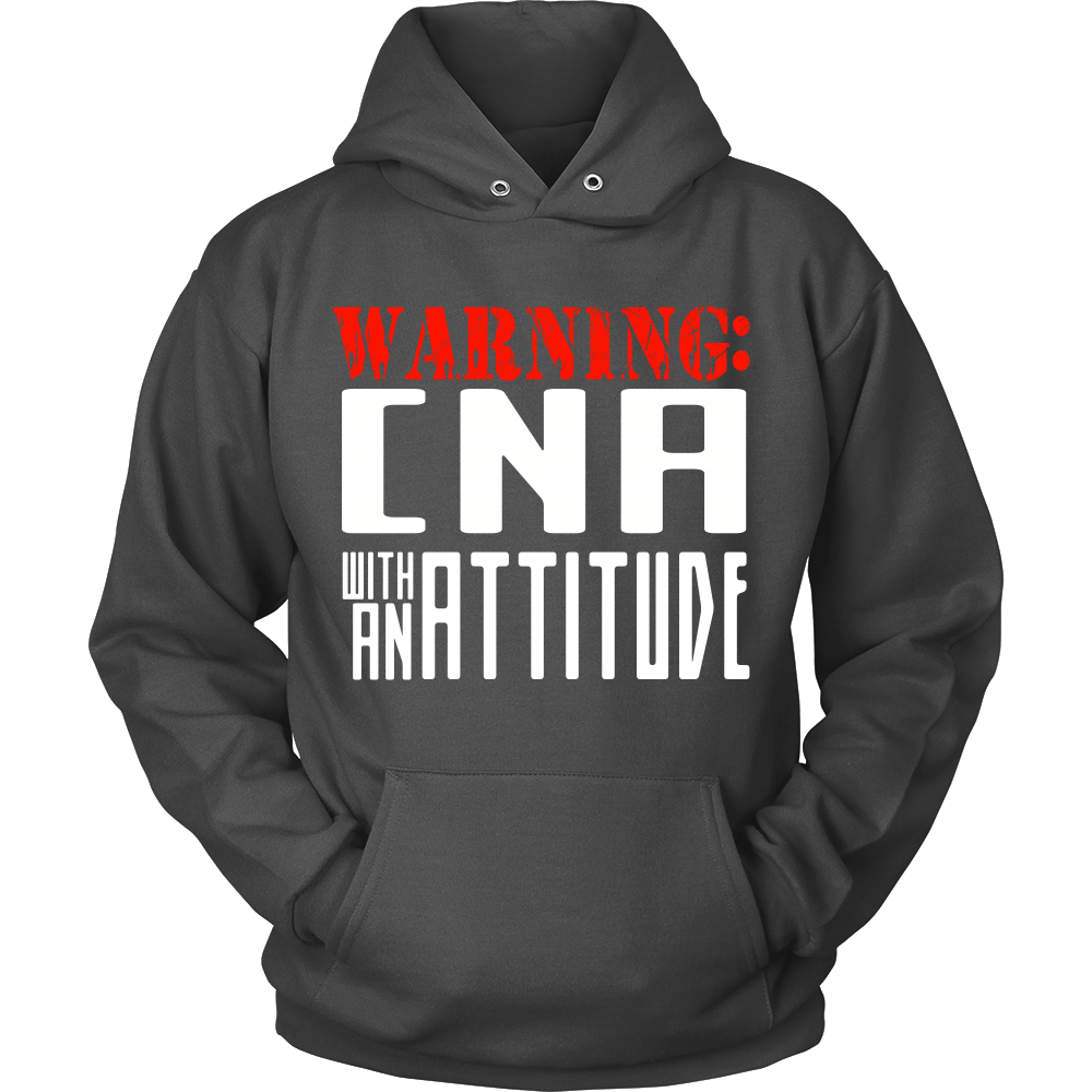 FunkyShirty Warning CNA with an Attitude (Men)  Creative Design - FunkyShirty