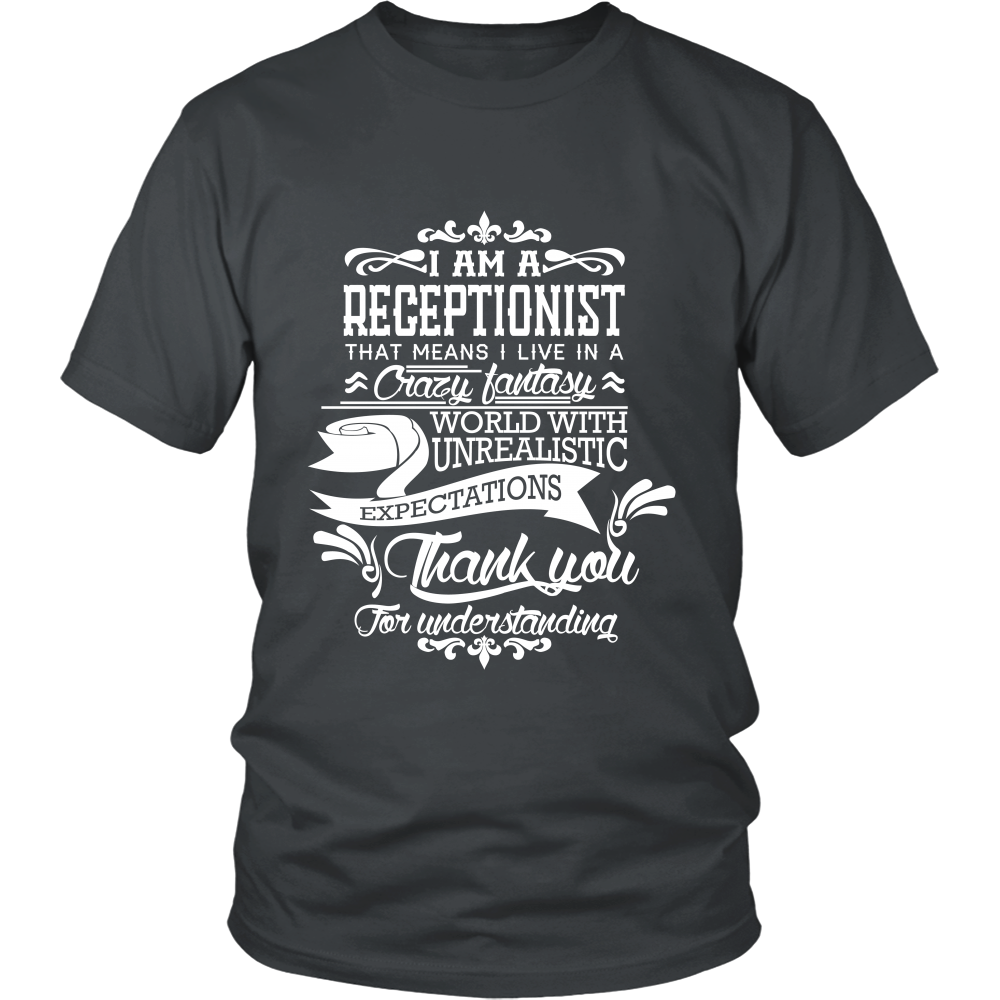 FunkyShirty Receptionist (Men)  Creative Design - FunkyShirty