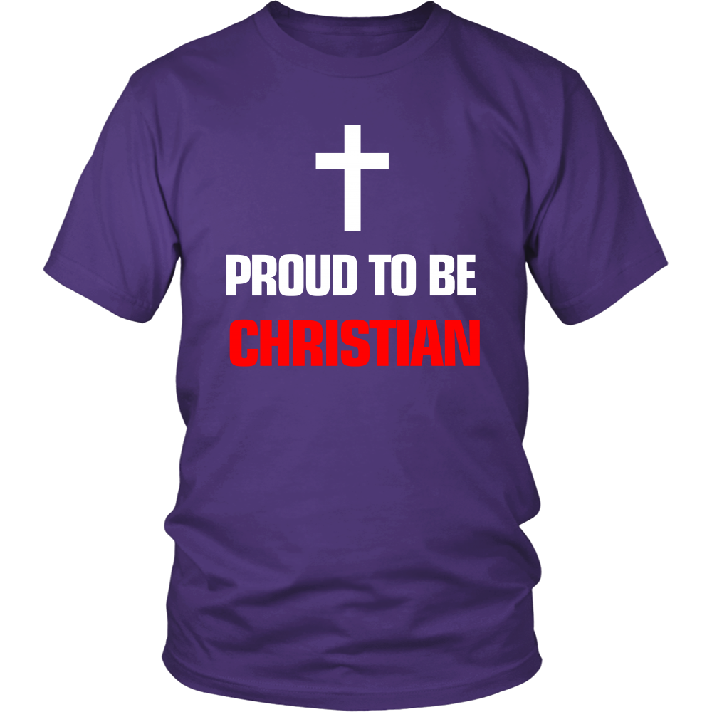 FunkyShirty Proud to be Christian (Men)  Creative Design - FunkyShirty