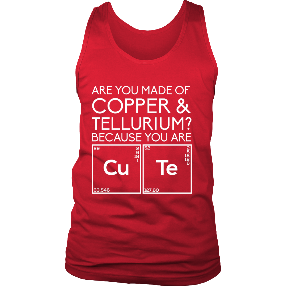 Are You Made of Copper & Tellurium? Because you are Cute (Men)