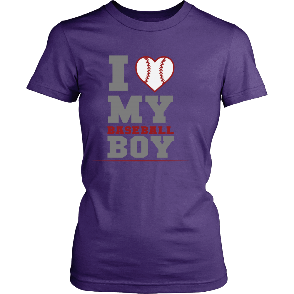 FunkyShirty I Love my Baseball Boy  Creative Design - FunkyShirty