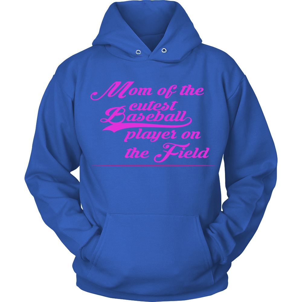FunkyShirty Mom of the Cutest Baseball Player  Creative Design - FunkyShirty