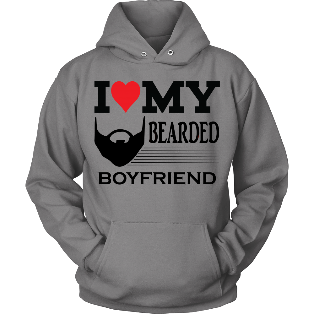 FunkyShirty I Love my Bearded Boyfriend  Creative Design - FunkyShirty