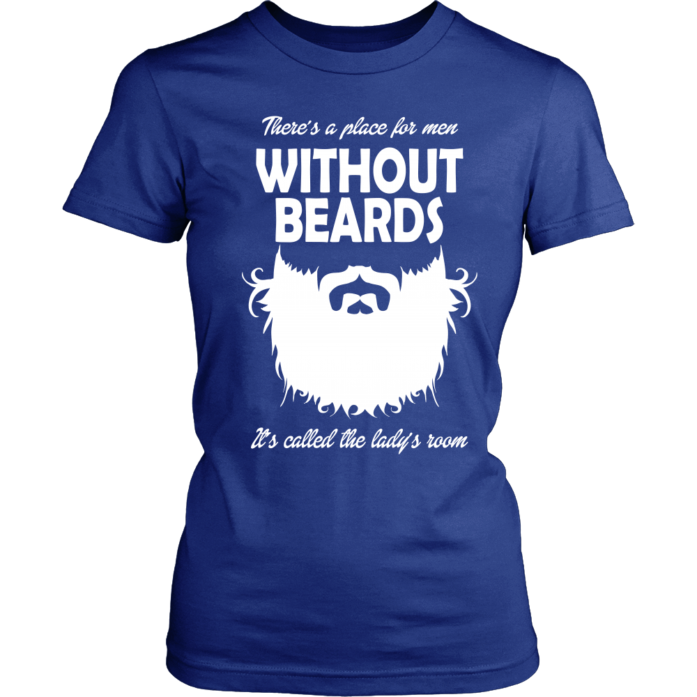 FunkyShirty Without Beards (Women)  Creative Design - FunkyShirty