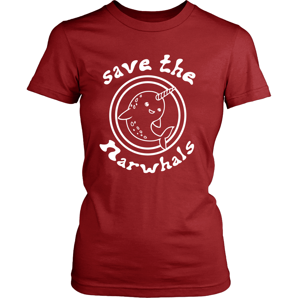 FunkyShirty Save The Narwhals (Women)  Creative Design - FunkyShirty