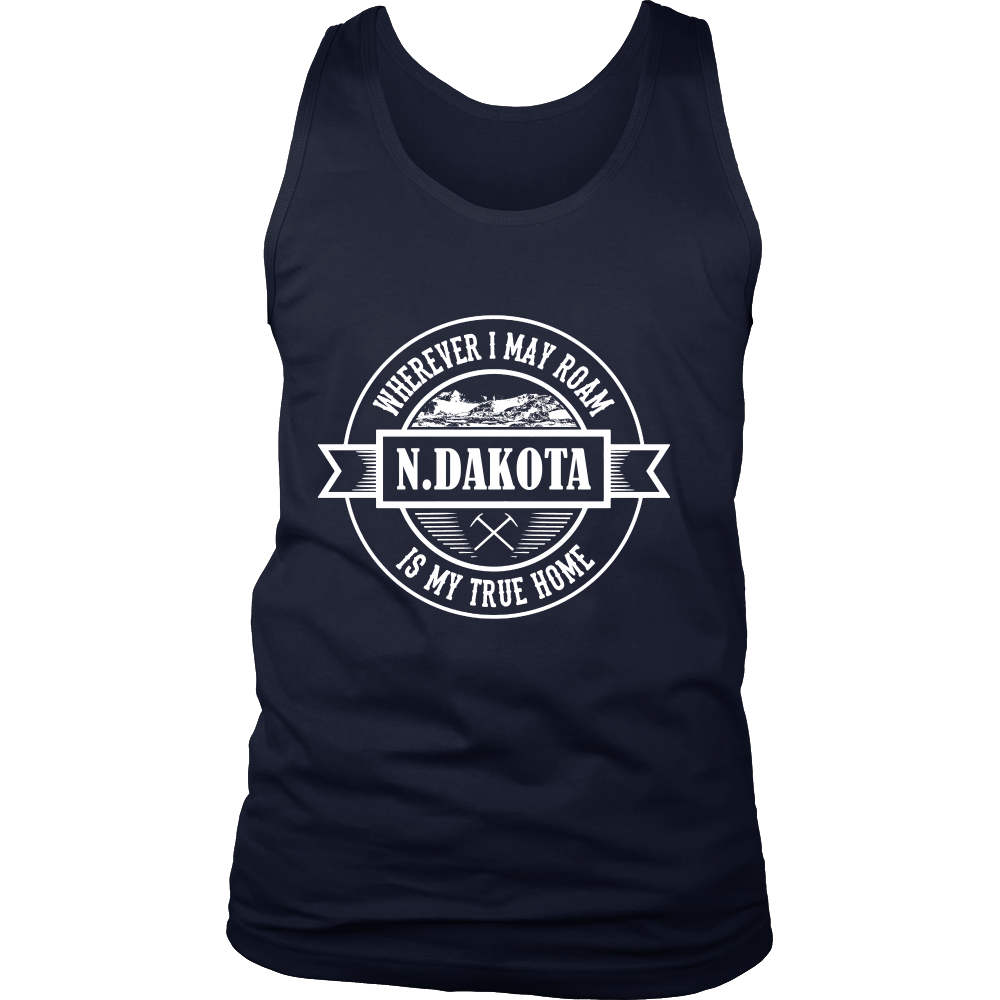 FunkyShirty North Dakota is my True Home (MEN)  Creative Design - FunkyShirty