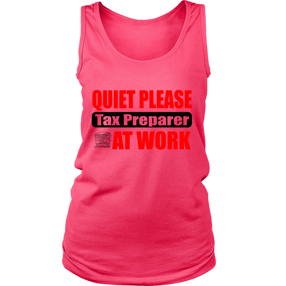 FunkyShirty Quiet Please Tax Preparer at Work (WOMEN)  Creative Design - FunkyShirty