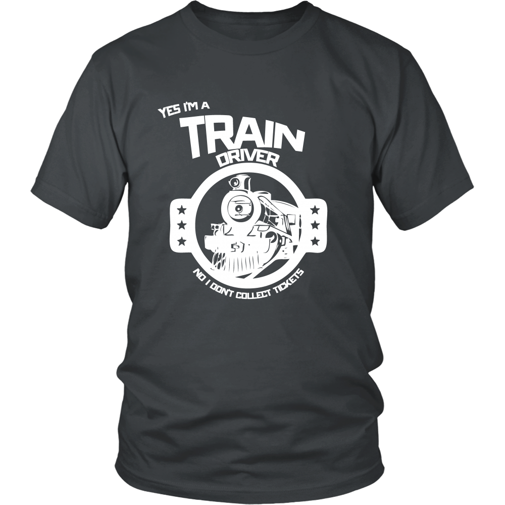 FunkyShirty Train Driver no i Don't Collect Tickets (Men)  Creative Design - FunkyShirty