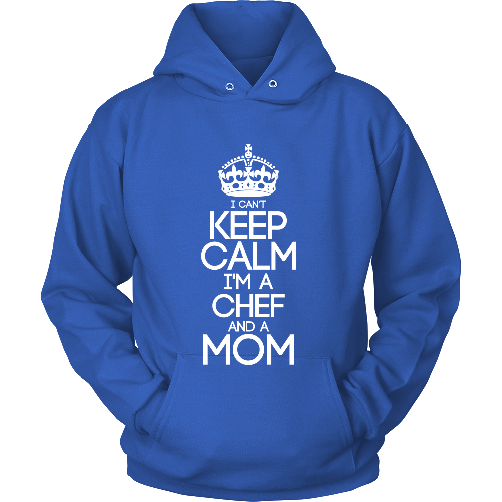 FunkyShirty I Cant Keep Calm Im a Chef and a Mom  Creative Design - FunkyShirty