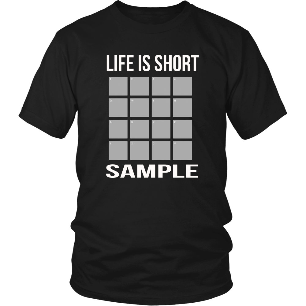 Life is short Sample (Men)